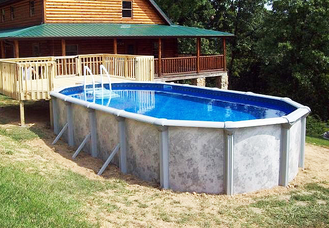 Oval above ground pools finest above ground pool design for Cheap above ground pool packages